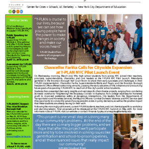 Spring 2016 New York City Newsletter