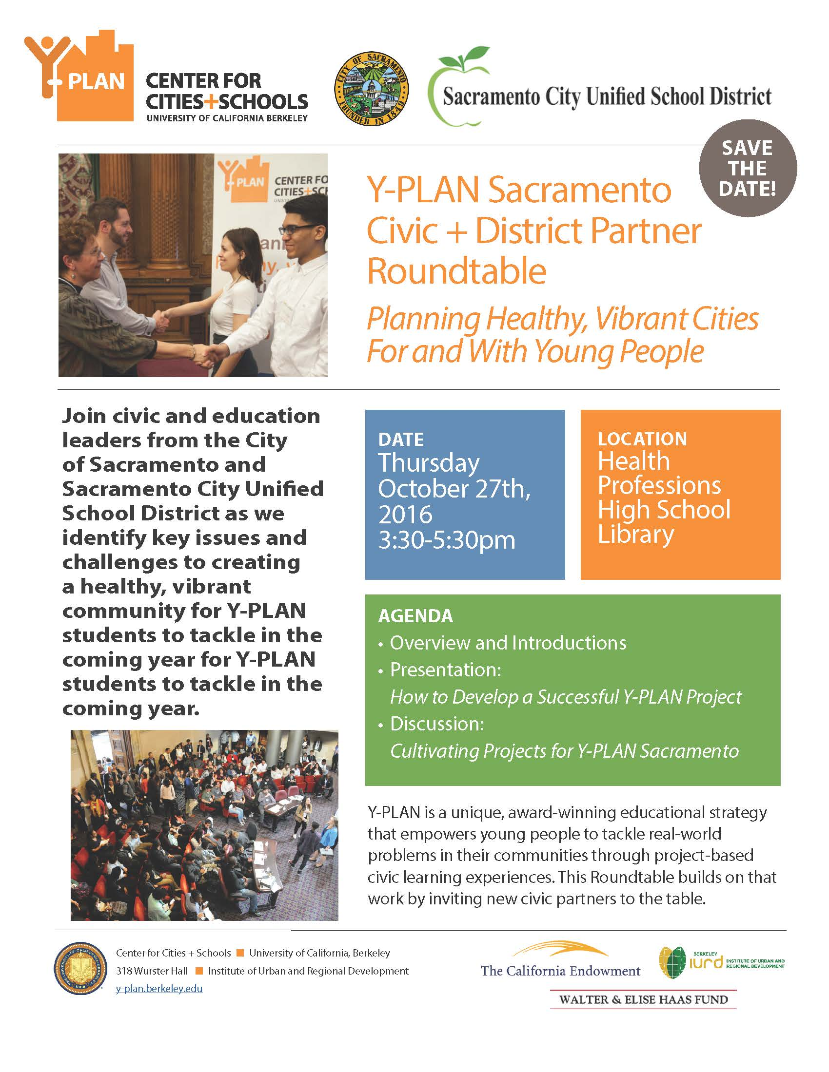 Y Plan Sacramento Civic District Partner Roundtable Y Plan
